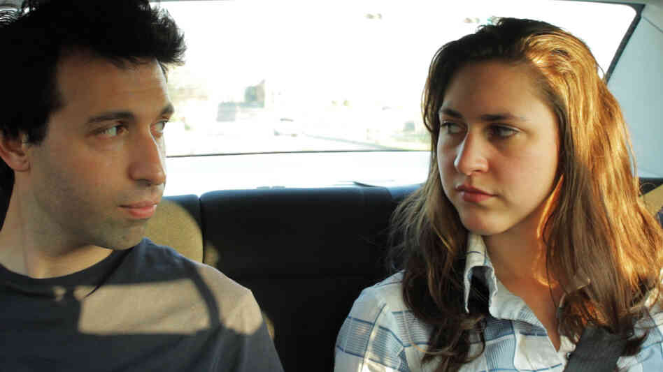 The deeply personal narrative that drives writer-director Alex Karpovsky's road trip comedy Red Flag even extends to his protagonist's name. (Pictured: Karpovsky and Caroline White)