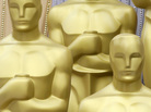 Oscar statues stand ready to great those who enter the red carpet outside the Kodak Theatre as preparations continue for the 82nd Academy Awards in Los Angeles, Ca., on Saturday, March 6, 2010. The Academy Awards will be held on Sunday. (AP Photo/Amy Sancetta)