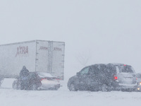 Scene along I-35 near  Kansas City on Thursday.
