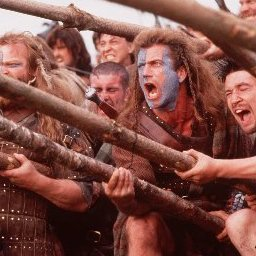 Mel Gibson, center, stars in Paramount Pictures' Braveheart.