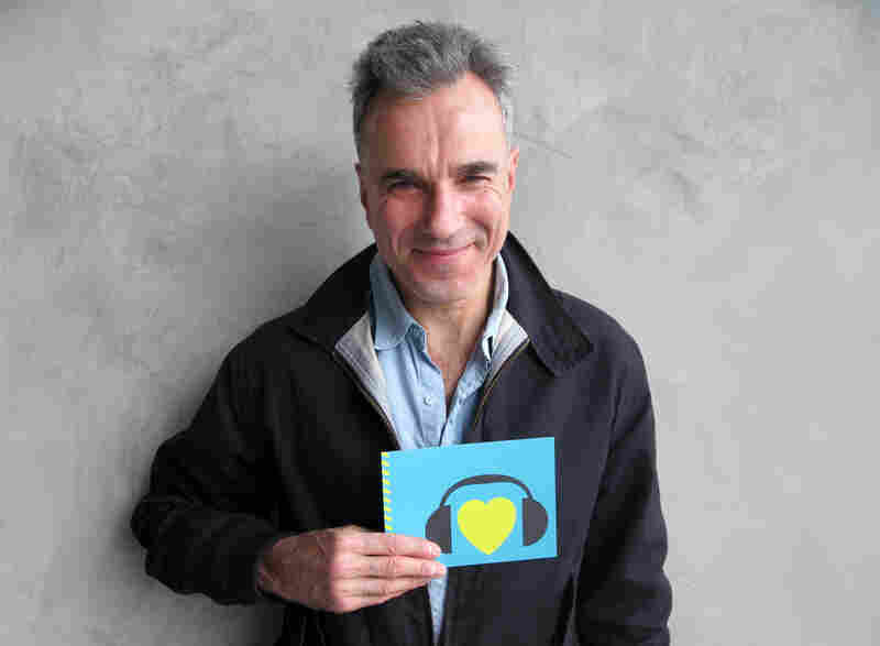 Two-time Best Actor winner Daniel Day-Lewis could make history this Sunday with a third statue for his performance in Lincoln. Hear him talk about the role with NPR on All Things Considered, and check him out here flashing a winning smile while showing us some love. (http://n.pr/Z00wgV)