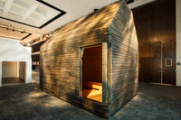 The Five Nordic Houses exhibit displays homes commissioned by Denmark's Louisiana Museum of Modern Art. Five architects were commissioned to build small homes that suit the style and needs of their home country, including this house by the Finnish firm Lassila Hirvilammi.