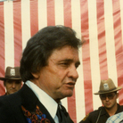 Don Gonyea (far right, in vest) interviewing Johnny Cash in 1981.
