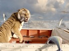 The tiger shows his toughness in Ang Lee's Life Of Pi.