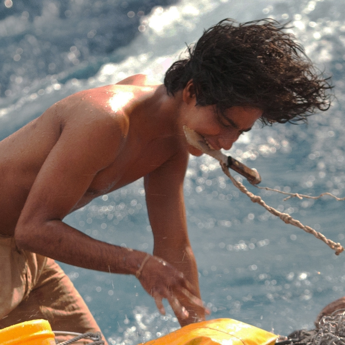 Callahan helped actor Suraj Sharma, who played Pi in the film, to convey the psychological distress of being stranded at sea.