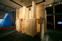 Another home in the Five Nordic Houses exhibit was created by the Norwegian architecture firm Jarmund/Vigsnaes.