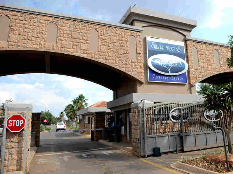 Oscar Pistorius lives in this gated community in the South African capital of Pretoria. Crime is rampant in the country, and well-off South Africans tend to live behind high walls or in gated communities.