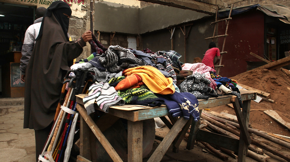 A woman shops in an Eastleigh market in 2009. (Getty Images)