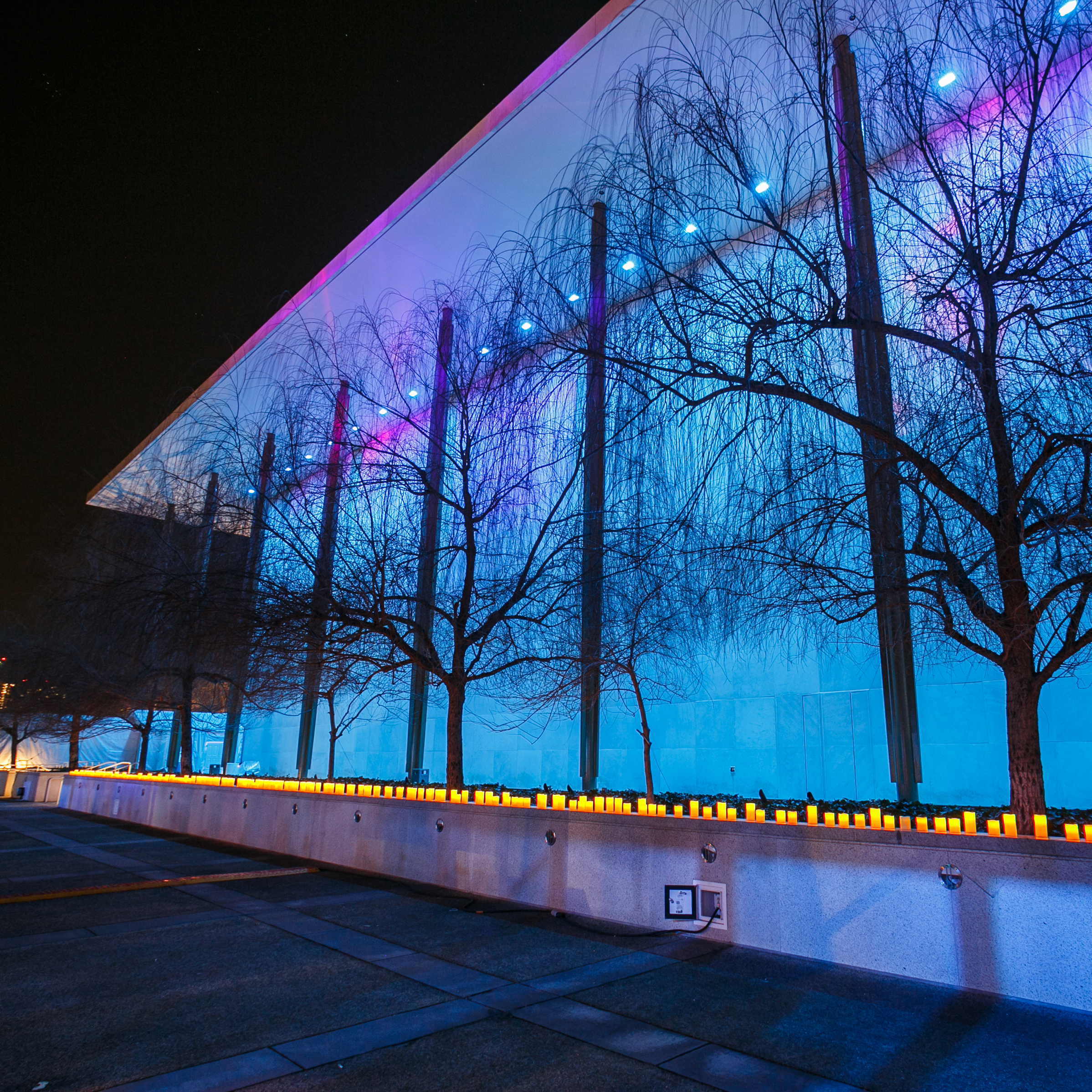 Northern Lights illuminate the Kennedy Center in Washington, D.C., during its monthlong festival, Nordic Cool 2013. The festival includes performances and exhibits from more than 750 artists. The exhibit runs through March 17.