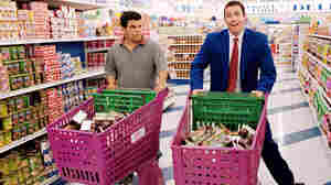 Luis Guzman and Adam Sandler in Paul Thomas Anderson's Punch Drunk Love.