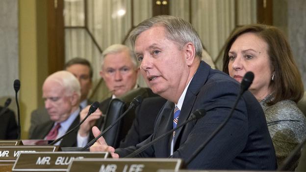 Sen. Lindsey Graham of South Carolina voices his opposition to President Obama's choice of former Sen. Chuck Hagel of Nebraska as secretary of defense, on Capitol Hill last week. (AP)