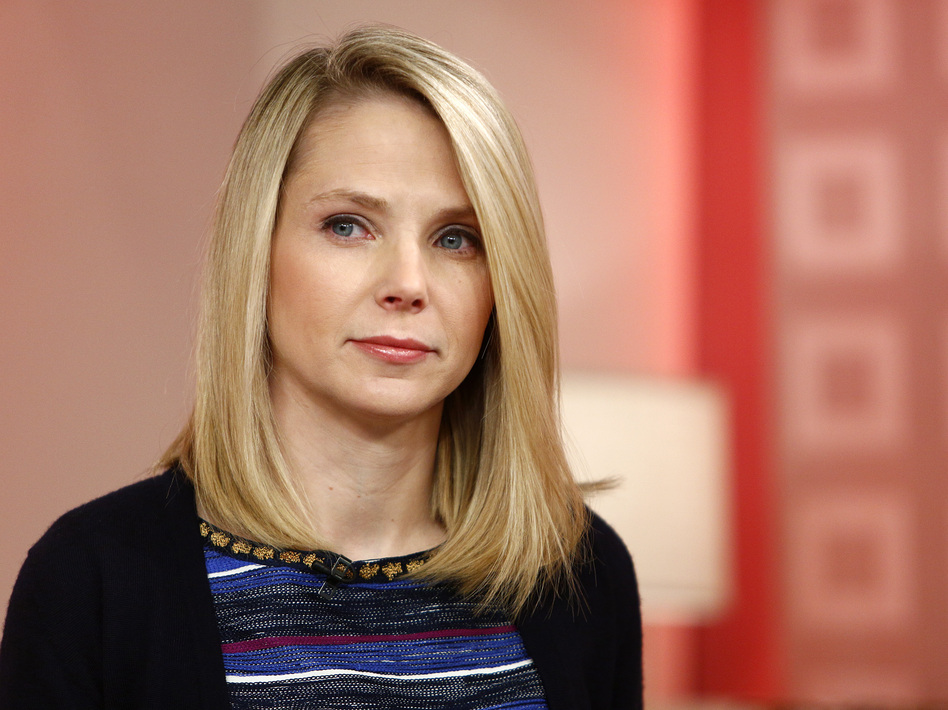 Yahoo CEO Marissa Mayer on Feb. 20, 2013. Under Mayer, Yahoo is ending its remote work policy for employees. (Peter Kramer/ASSOCIATED PRESS)