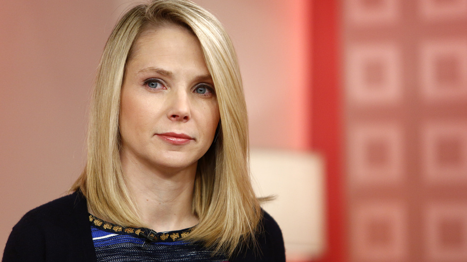 Yahoo CEO Marissa Mayer on Feb. 20, 2013. Under Mayer, Yahoo is ending its remote work policy for employees. (ASSOCIATED PRESS)