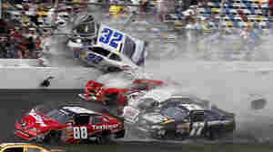 NASCAR Crash Sends Car Debris Into The Stands At Daytona