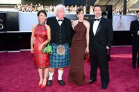 Seth MacFarlane with his wife, sister and father.
