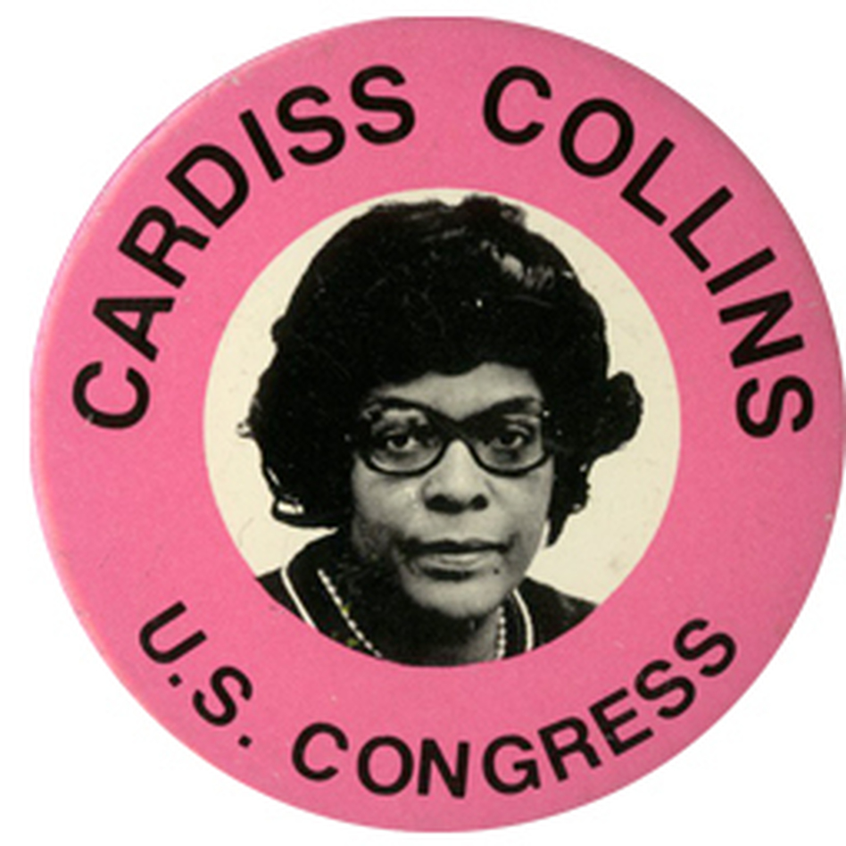 Collins, the longest serving black woman in the history of Congress, retired after 1996.  She died Feb. 3. (Ken Rudin collection )