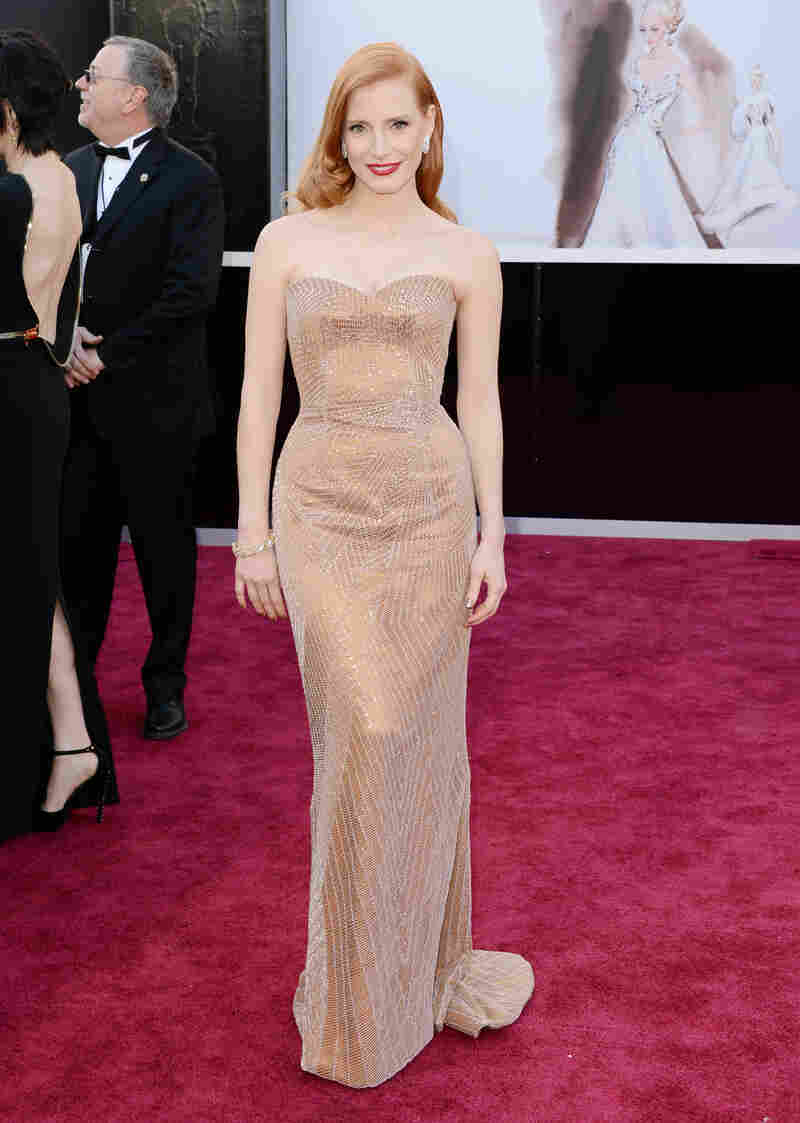 Jessica Chastain, nominated for best actress in Zero Dark Thirty