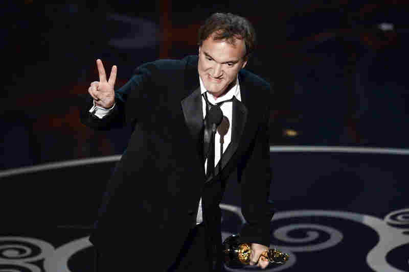 "Quentin Tarantino accepts the Oscar for best original screenplay for ""Django Unchained."""