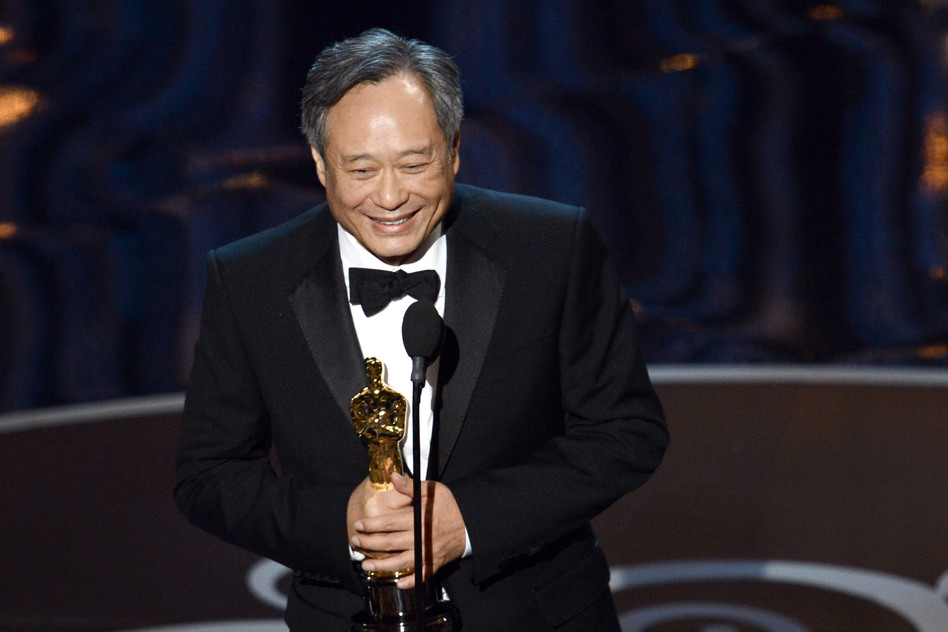"Director Ang Lee accepts the best director award for ""Life of Pi."" (Getty Images)"