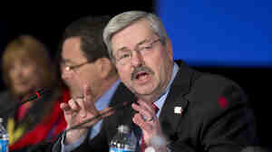 Iowa Gov. Terry Branstad speaks during a panel discussion at the National Governors Association 2013 Winter Meeting in Washington, D.C.