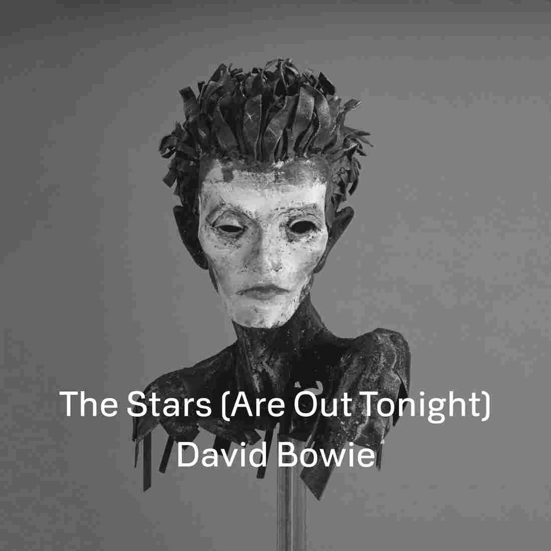"Cover art for David Bowie's single, ""The Stars (Are Out Tonight)."""