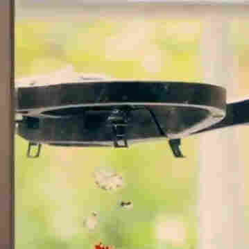 Drone outside window