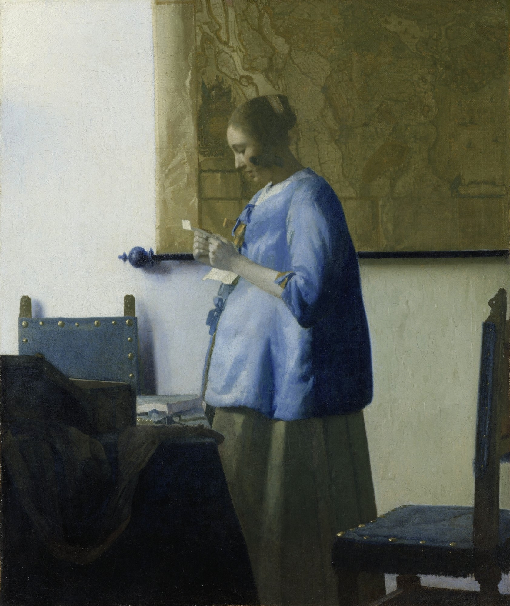 Woman in Blue Reading a Letter by Vermeer