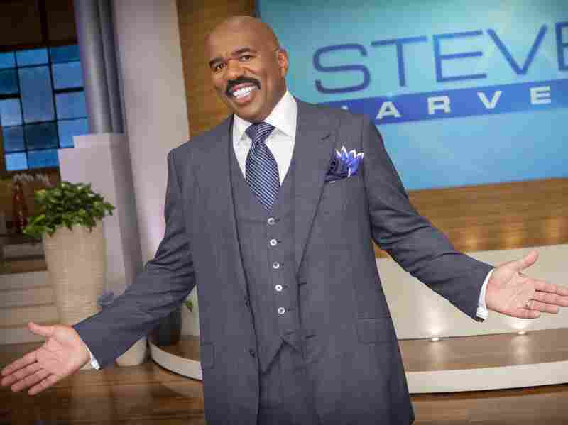 Steve Harvey on the set of his Steve Harvey Show in Chicago just before it debuted in September 2012.