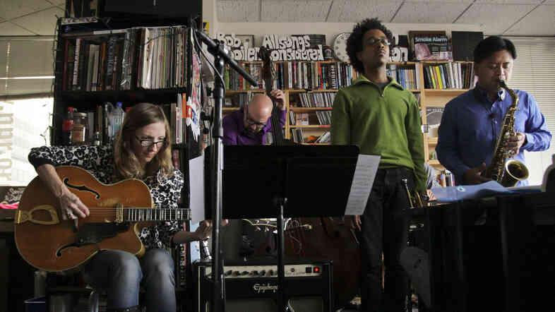 Mary Halvorson performs a Tiny Desk Concert on Dec. 12, 2012.