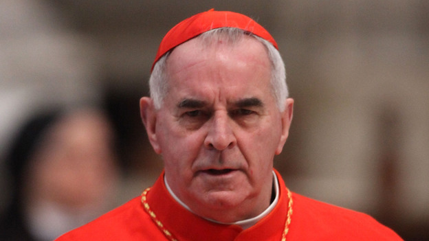 Then-Cardinal Keith O'Brien, archbishop of Saint Andrews and Edinburgh, at St. Peter's Basilica in Vatican City last week. (Getty Images)