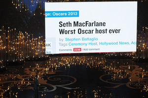 The 85th Annual Academy Awards were hosted by Seth MacFarlane, creator of TV's