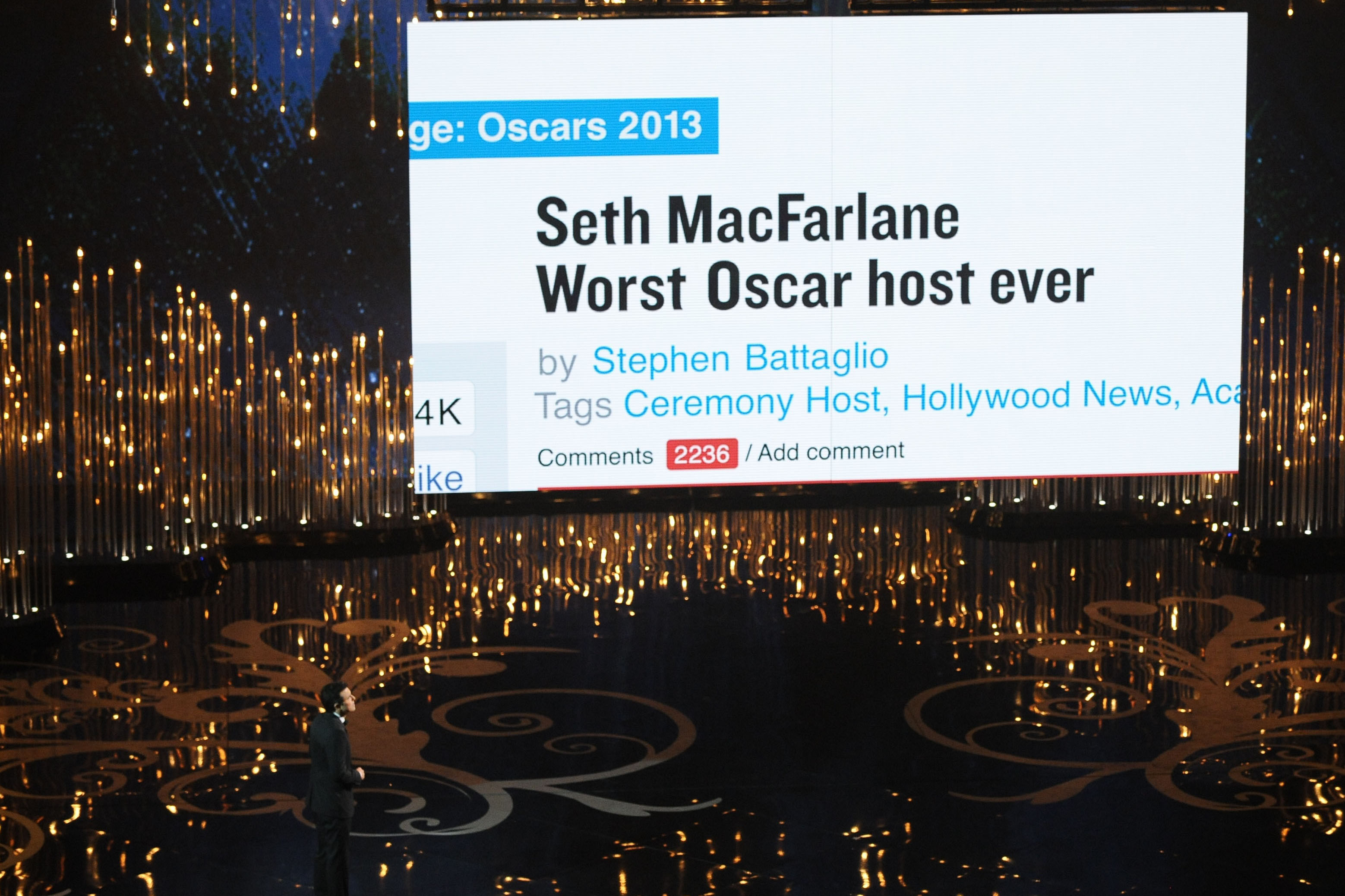"The 85th Annual Academy Awards were hosted by Seth MacFarlane, creator of TV's ""Family Guy."""