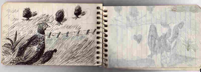A peek inside one of Prosek's childhood notebooks.