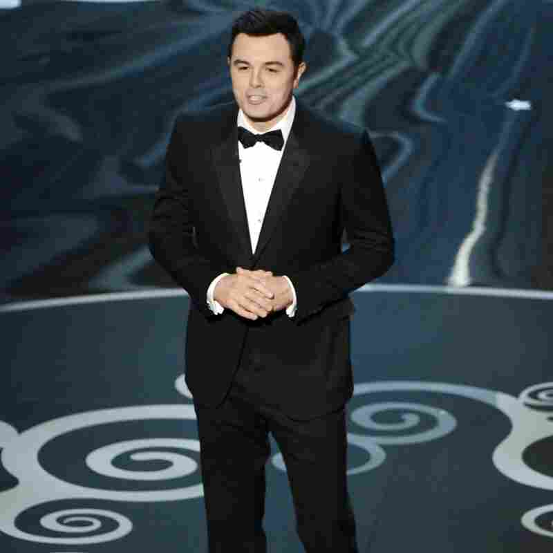 Host Seth McFarlane during Sunday's Academy Awards ceremony at the Dolby Theatre in Hollywood, Calif.