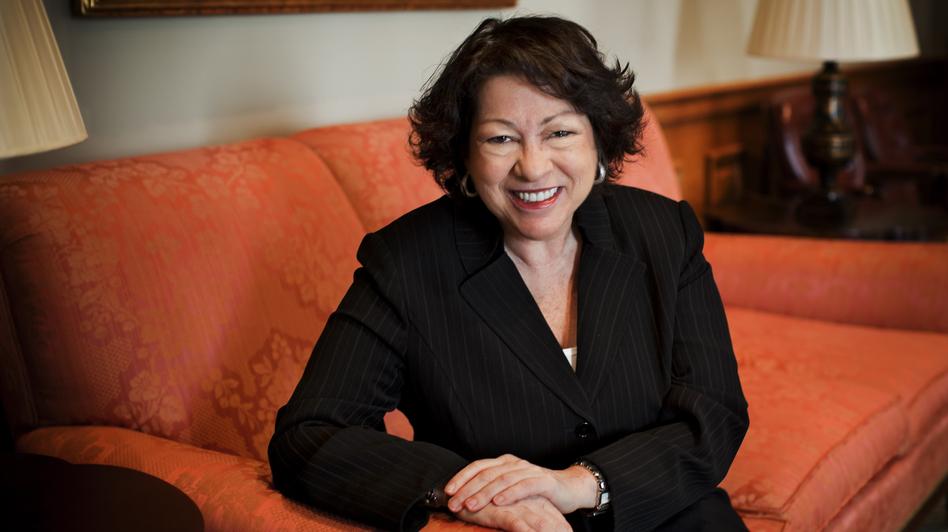 Supreme Court Justice Sonia Sotomayor spoke with NPR in December at the Supreme Court in Washington, D.C. (NPR)