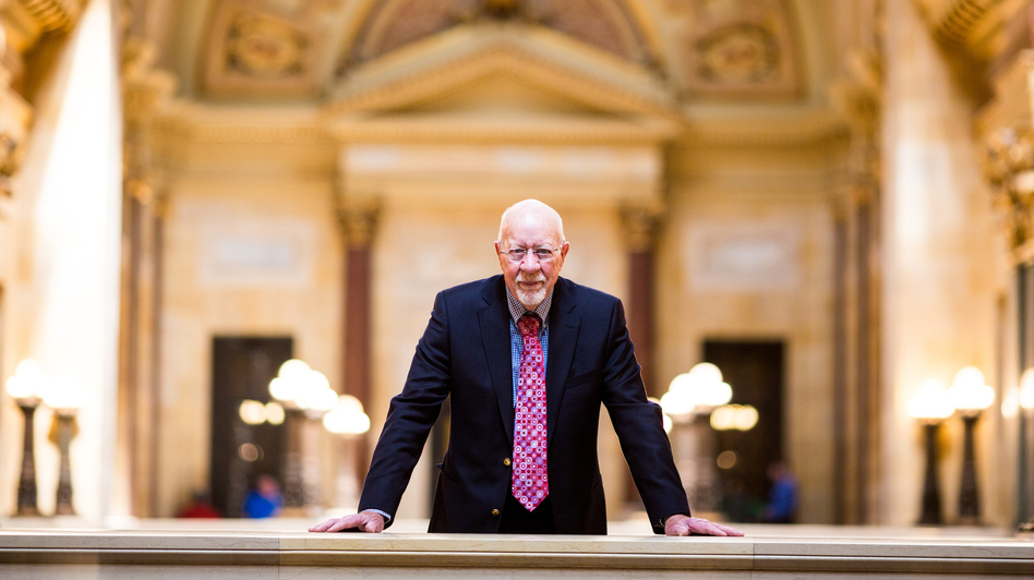 Wisconsin state Sen. Fred Risser at the state Capitol. (Narayan Mahon for NPR)