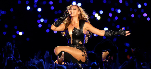 Vision, drive and a commitment to excellence: Beyoncé performs at Super Bowl XLVII in New Orleans.