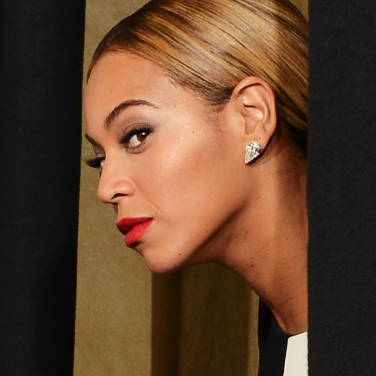 Woman with a plan: Beyonce at the 55th annual Grammys in Los Angeles.