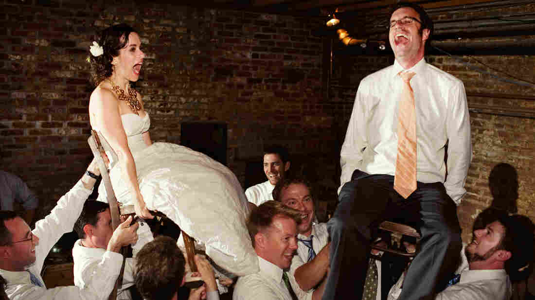 """Young newlyweds are serenaded with the strains of """"Hava Nagila."""" The unlikely origins of the popular Jewish standard are explored in Roberta Grossman's documentary feature Hava Nagila: The Movie."""