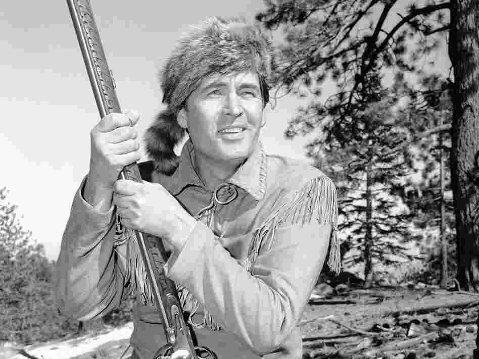 Actor Fess Parker played Davy Crockett in the 1950s Disney television series Davy Crockett, King of the Wild Frontier.