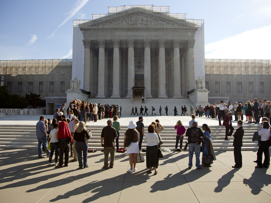The Supreme Court on Wednesday weighs the future of a key provision of the landmark Voting Rights Act.