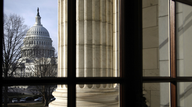 The U.S. Capitol, as seen from the nearby Russell Senate Office Building. (Reuters /Landov)