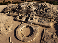 An aerial view of the Caral-Supe site.