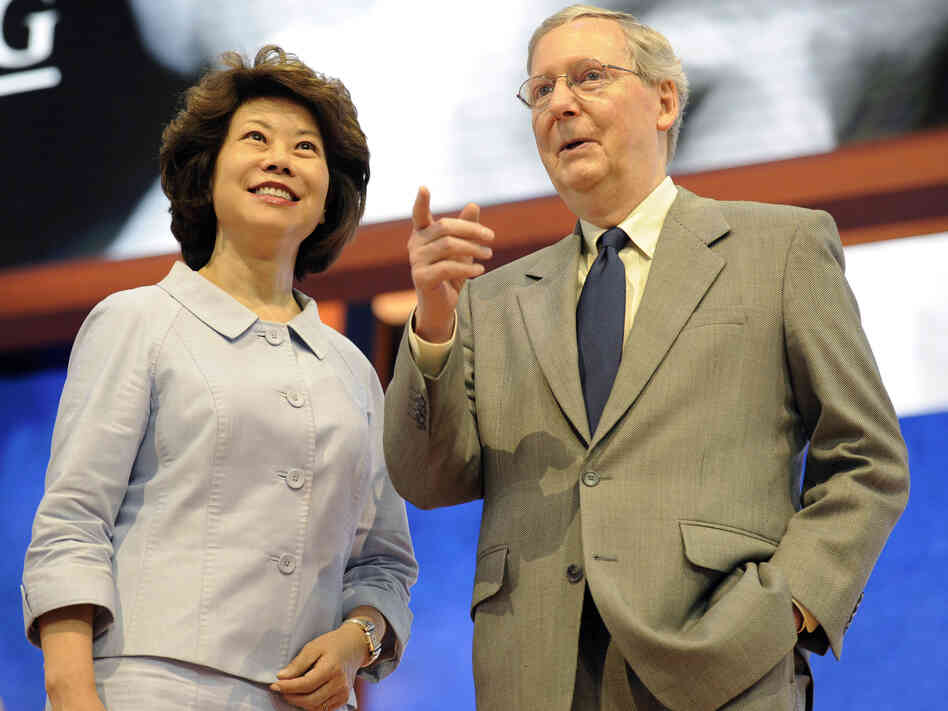 Senate Minority Leader Mitch McConnell, R-Ky., and his wife Elaine Chao at last summer's Re