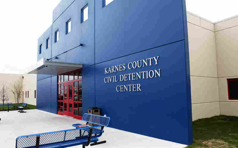 Karnes County Detention Center in Karnes City, Texas.