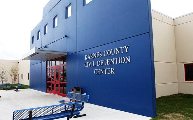 Karnes County Detention Center in Karnes City, Texas.