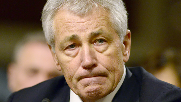 Former Sen. Chuck Hagel, R-Neb., who has been nominated to be the next secretary of defense. (DPA /LANDOV)