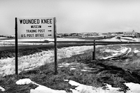 Entering the hamlet of Wounded Knee.