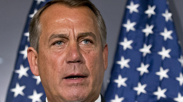 House Speaker John Boehner, R-Ohio, discusses the sequester Tuesday on Capitol Hill. (AP)
