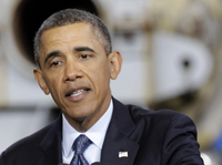 President Obama speaks Tuesday about the sequester in Newport News, Va.